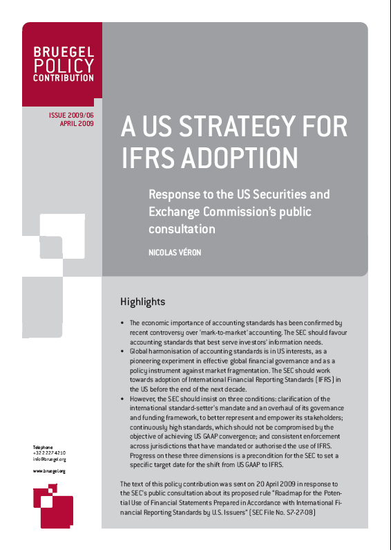 ifrs a report on the roadmap